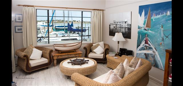 Relax and enjoy the ambience at the Boathouse Retreat