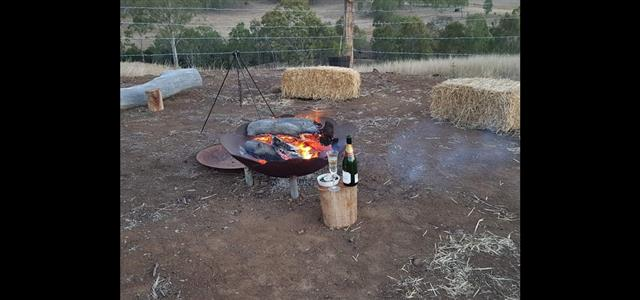 enjoy the campfire - only 20 meters from your room