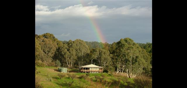 Ruby Cottage at the end of the rainbow